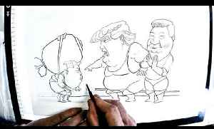 KAL draws... Donald Trump and Kim Jong Un [Video]