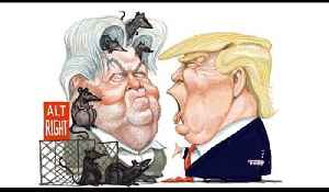 President Trump rebuking Steve Bannon, as seen by Kal | The Economist [Video]