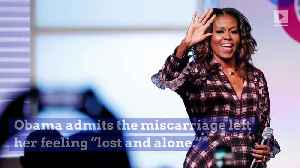 Michelle Obama Reveals That She Suffered a Miscarriage [Video]