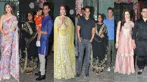 Arpita Khan's Diwali Party: Salman Khan, Lulia, Shilpa, Jacqueline & other stars attend | FilmiBeat [Video]