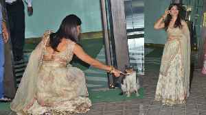Jacqueline Fernandez playing with cat in middle of Arpita Khan's Diwali Party; Watch Video FilmiBeat [Video]