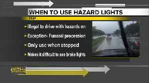 Is it legal to use hazard lights in the rain? [Video]