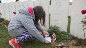 Villagers travel to graves of WW1 soldiers [Video]