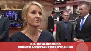J.K. Rowling Sues Ex-Employee For Stealing [Video]
