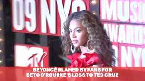 Beyonce Unfairly Getting Blame For Beto Loss [Video]