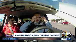 Free hands-on teen driving course [Video]