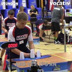 These Professional Cup Stackers are Fast. Really Fast. [Video]