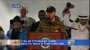 Rally For Peace: Michael Keaton Makes Special Appearance [Video]