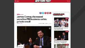 Report: Comey Discussed Sensitive FBI Matters On Private Email [Video]