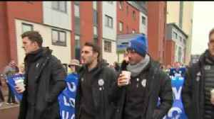 Leicester City players walk with fans [Video]
