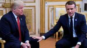 News video: Macron pats Trump on the knee after 'insulting' rebuke