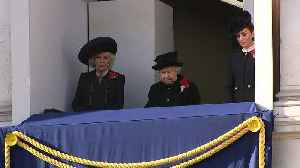 News video: Armistice Day: The Queen watches commemorations from balcony
