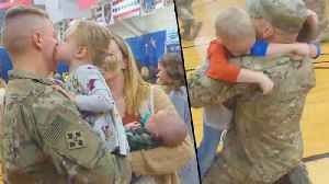 300 Soldiers Return from Afghanistan with Families Waiting to Greet Them [Video]