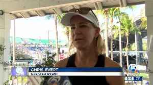 Chris Evert pro-celebrity tennis classic held in Delray Beach [Video]