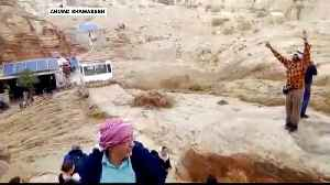 Jordan rains and floods kill 12, force tourists to flee Petra [Video]