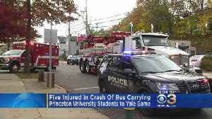 5 Injured In Crash Carrying Princeton University Students To Yale Game [Video]