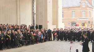 Watch: Poppies float down from Menin Gate during Armistice ceremony in Belgium [Video]