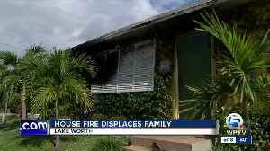 News video: House fire displaces family in Lake Worth