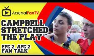 Joel Campbell stretched the play - Everton 2 Arsenal 2 [Video]