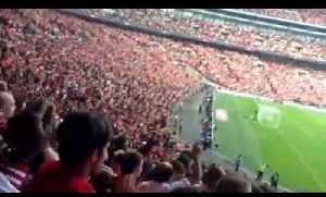 Fans React to Santi Cazorla Goal At Wembley - Arsenal 3 Man City 0 [Video]