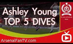 Ashley Young's Top 5 Dives Man United - ArsenalFanTV.com [Video]