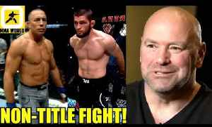 The fight to make next is Khabib vs GSP at a catchweight 165lbs,Dana White on D,Lewis on DC [Video]