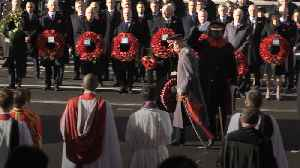 Prince of Wales leads Armistice centenary tributes at the Cenotaph [Video]