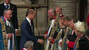 Royal family attend remembrance service at Westminster Abbey [Video]