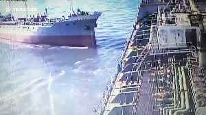 Oil tanker crashes into another vessel at port in Taiwan [Video]