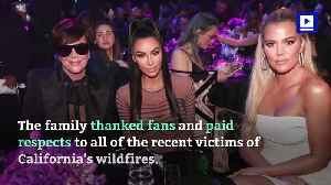 Kardashians Dedicate People's Choice Award to Calabasas Firefighters [Video]