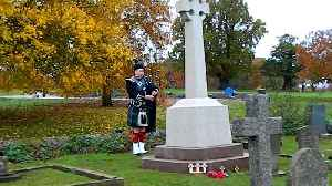 Lone Piper Marks Armistice Day at Northamptonshire Church [Video]