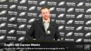 VIDEO: Eagles QB Carson Wentz is at a loss to explain another slow start for offense after loss to Cowboys [Video]