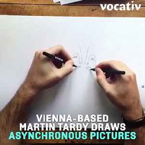 Ambidextrous Artist Makes Incredible One Line Drawings With Both Hands [Video]