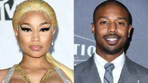 Nicki Minaj Flirts with Michael B. Jordan While Accepting an Award [Video]