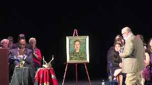 News video: Gold Star Family Accepts Portrait of Son Killed in Suicide Bomb Attack