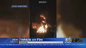 UC RV FIRE: A RV explodes into flames in front of the UC-Berkeley fraternity house [Video]