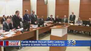 Florida Midterm Recount Battle Underway [Video]