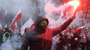 While Macron Rebuked Nationalism, Nationalists Marched In Poland [Video]