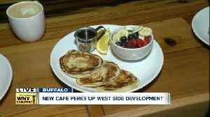 Cafe 'Perks' up west side businesses [Video]