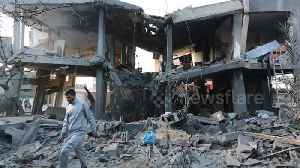 Palestinians inspect homes destroyed by Israeli air strike [Video]