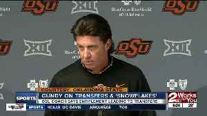 Mike Gundy announces transfer of sophomore safety: 'I'm a firm believer in the snowflake' [Video]