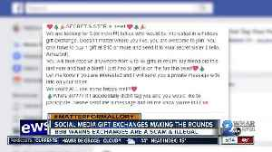 Police remind Facebook users popular gift exchange is an illegal scam [Video]