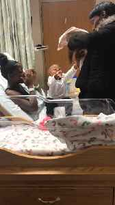 Big Brother has Precious Reaction to Meeting Baby Sister [Video]
