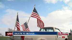 Platteview High School students honor veterans with flag display [Video]