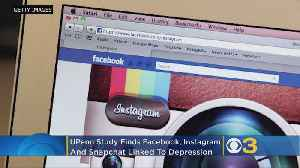 UPenn Study Finds Facebook, Instagram, Snapchat Linked To Depression [Video]
