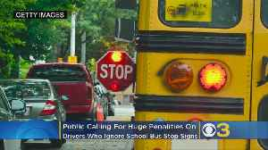 Public Calling For Huge Penalities On Drivers Who Ignore School Bus Stop Signs [Video]