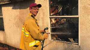 Residents Praise Firefighter Neighbor Who Protected Their Homes As His Burned [Video]