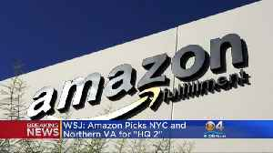 WSJ: Amazon Chooses New York, Virginia To Build New HQ2 [Video]
