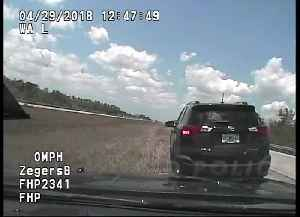 Florida Highway Patrol Pursuit Reaches 142 MPH, Cruiser Catches Fire [Video]