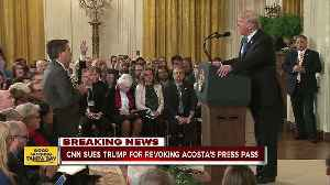 CNN sues President Trump for banning Acosta [Video]